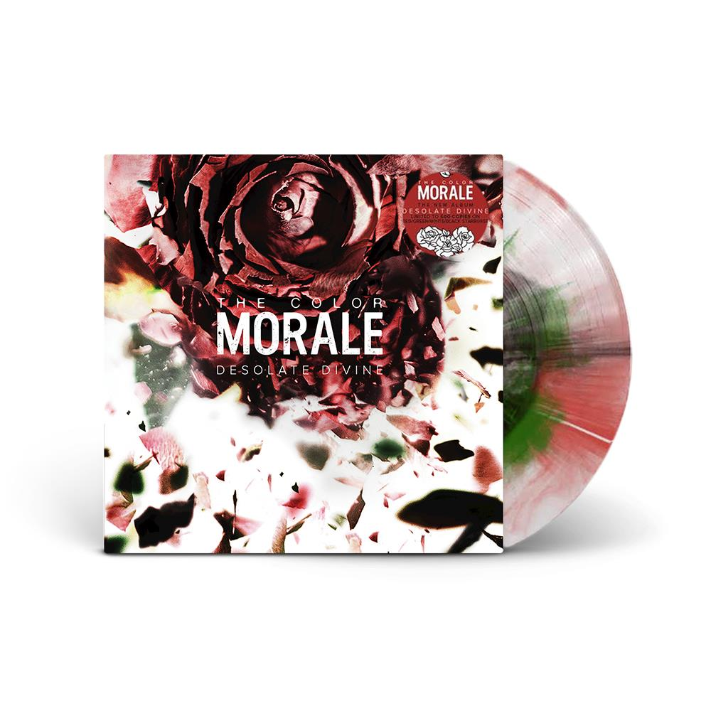 Desolate Divine White W/ Red & Green Burst