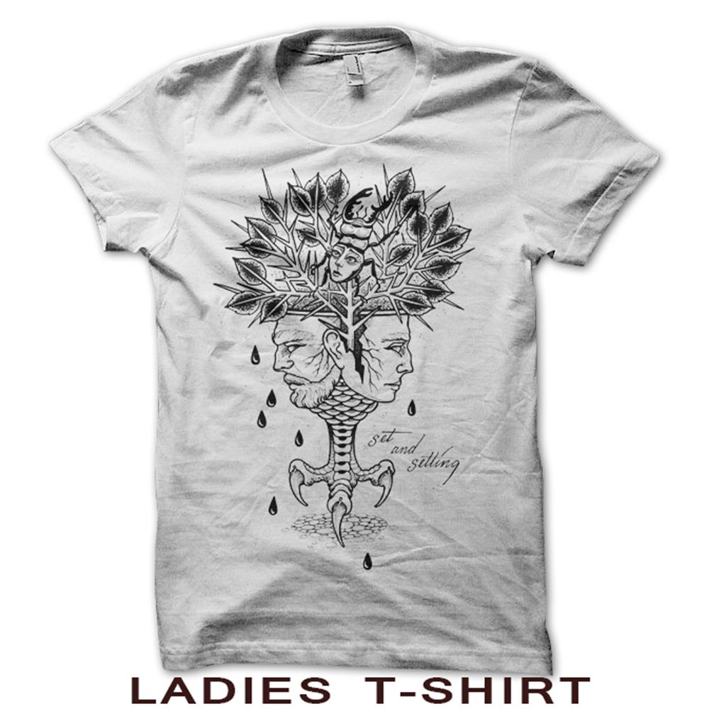 Aging Reflection Ladies White T-Shirt