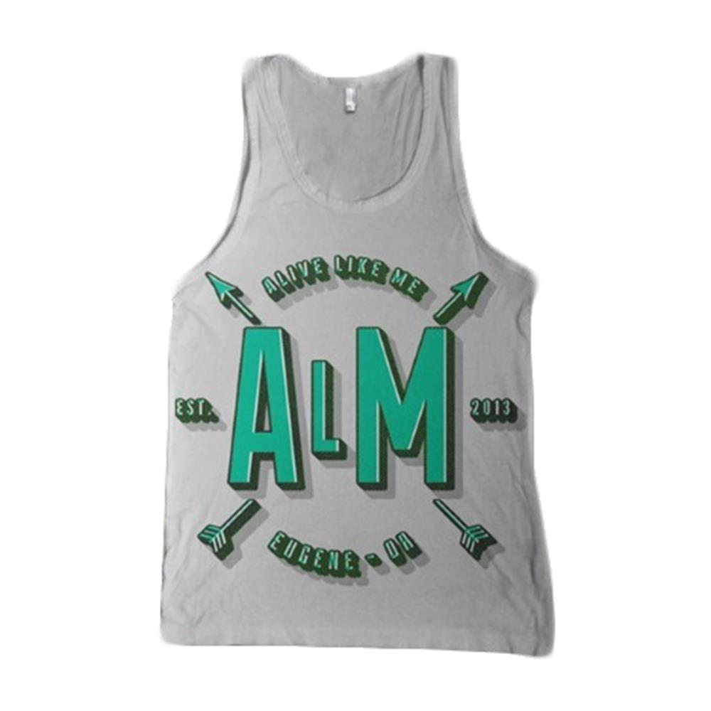 Arrows Ash Grey Tank Top