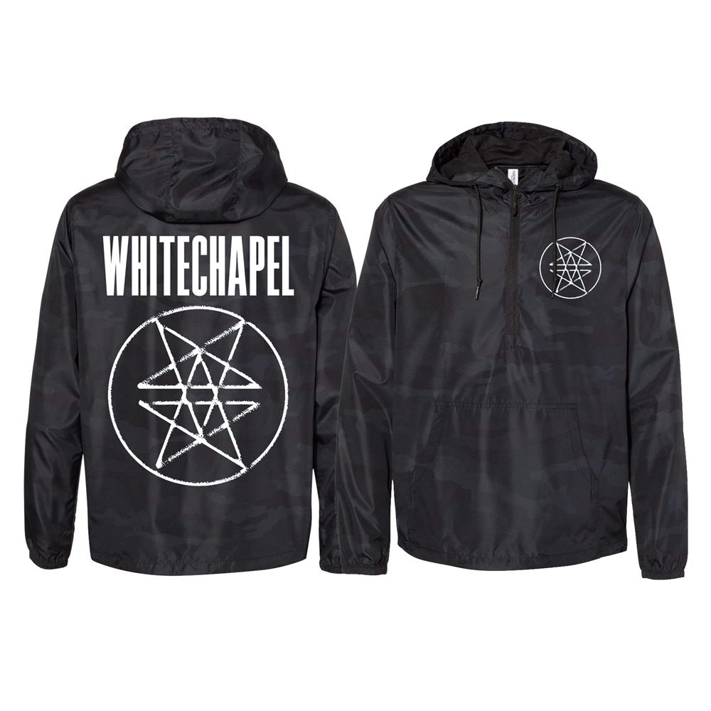 Double Pentagram Black Camo Pullover Windbreaker