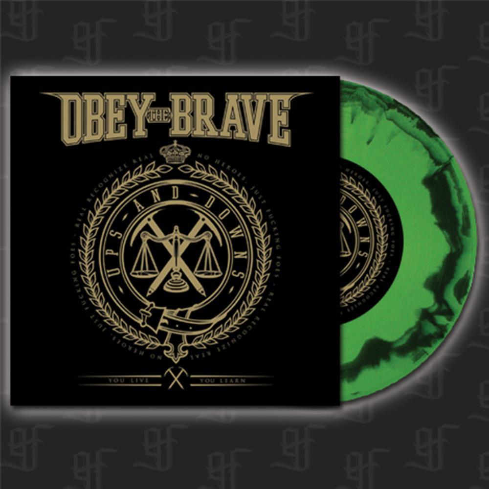 Ups And Downs - Green/Black Swirl 7 Inch Vinyl