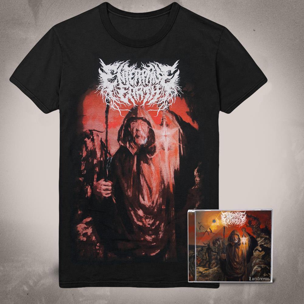 Luciferous CD + Album Art T-Shirt