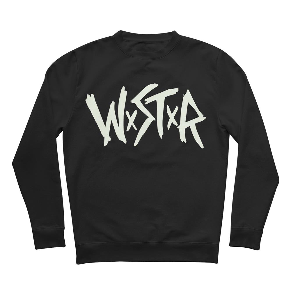 Logo Glow In The Dark Black Crewneck