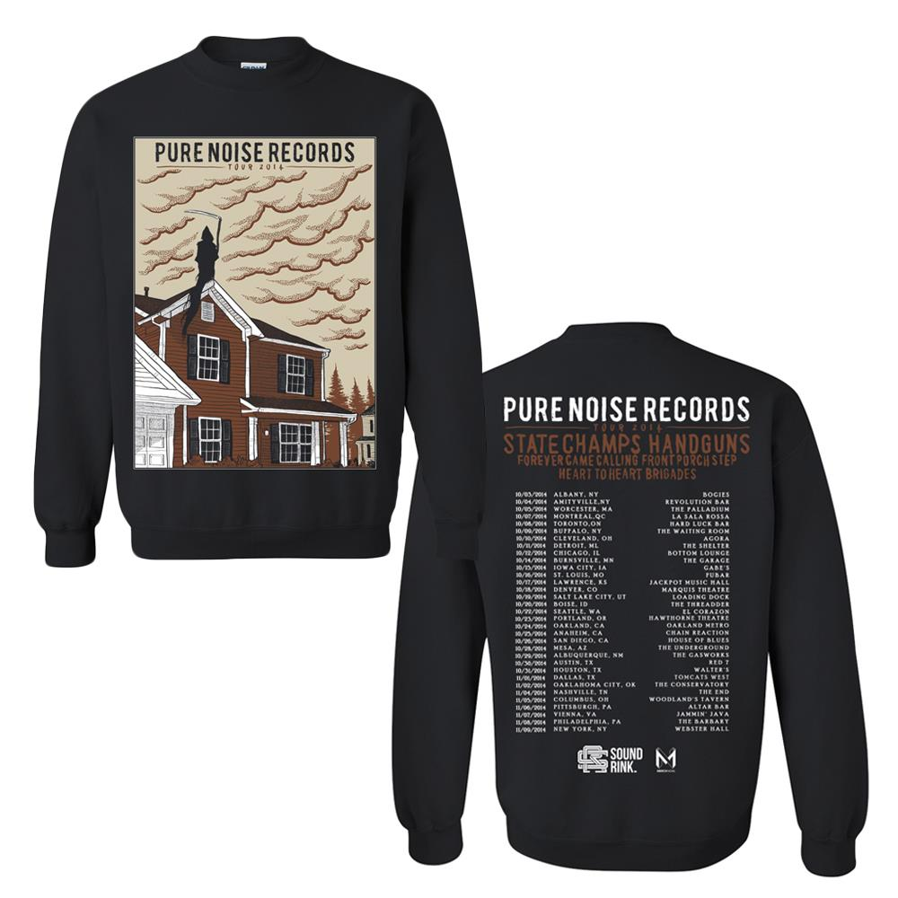 Pure Noise Tour 2014 Black Crewneck                                   PN MERCH