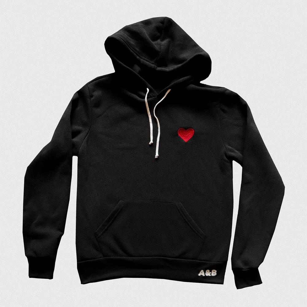A&B Embroidered Black Pullover