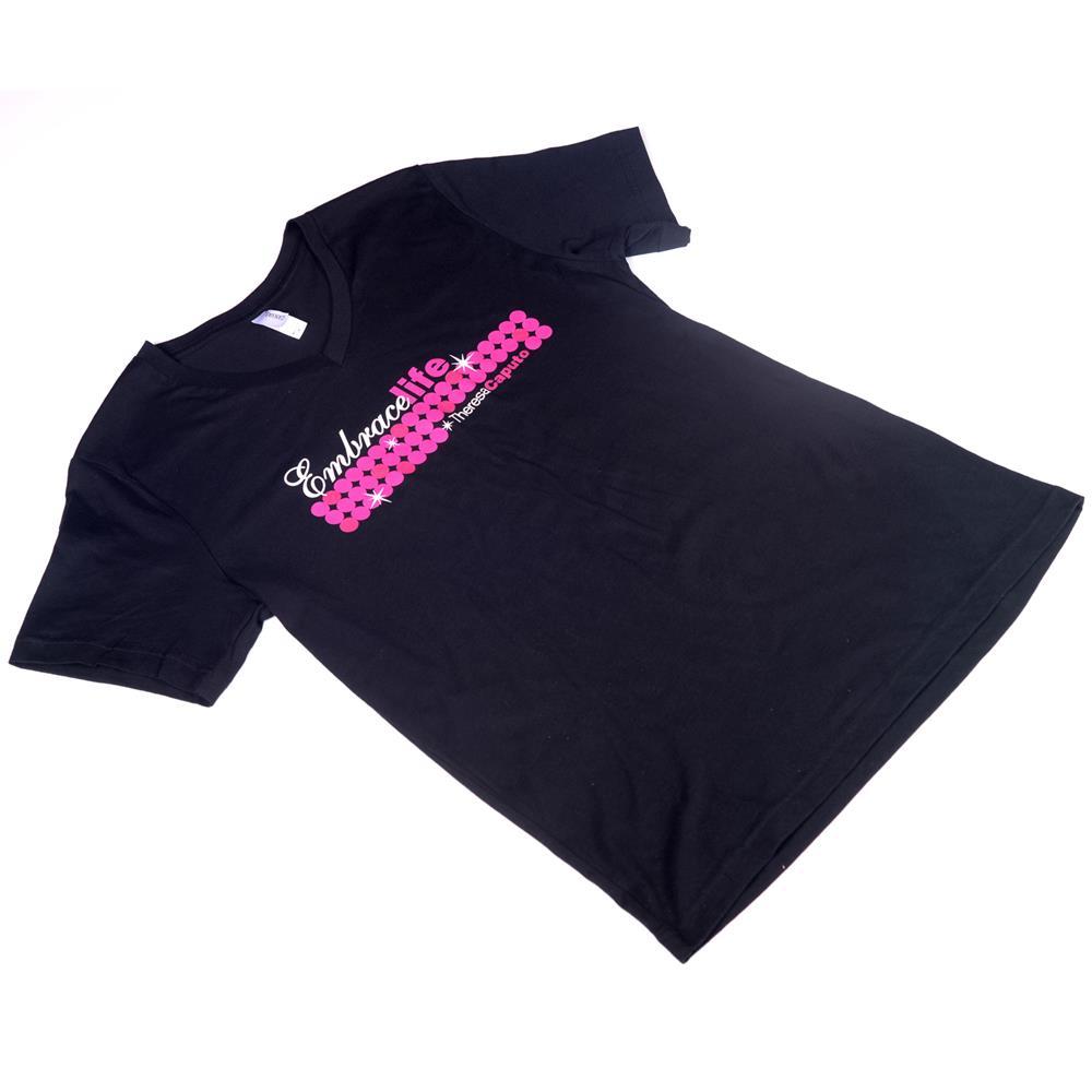 Embrace Pink Logo Vneck