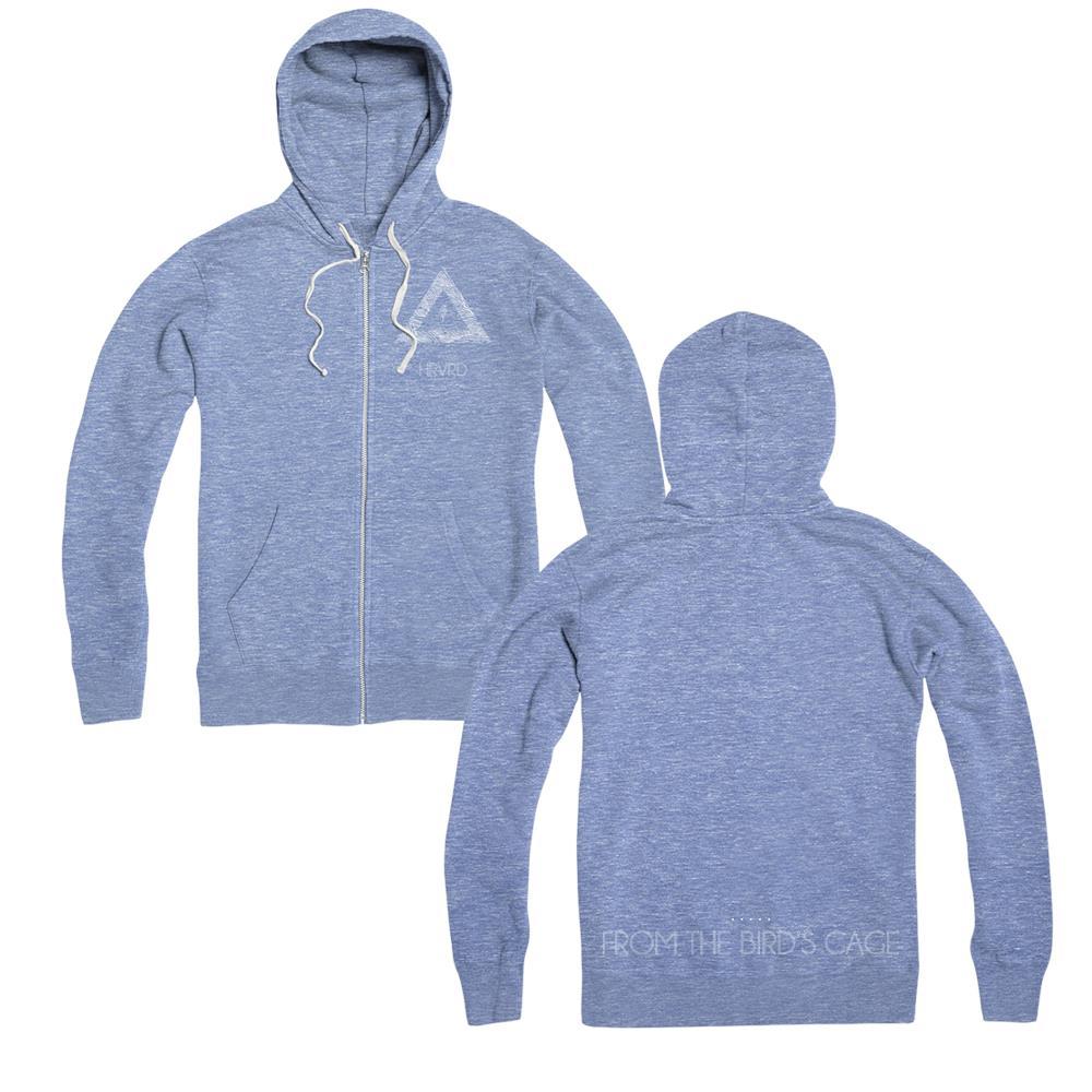 HRVRD - Logo Blue Zip-up Sweatshirt