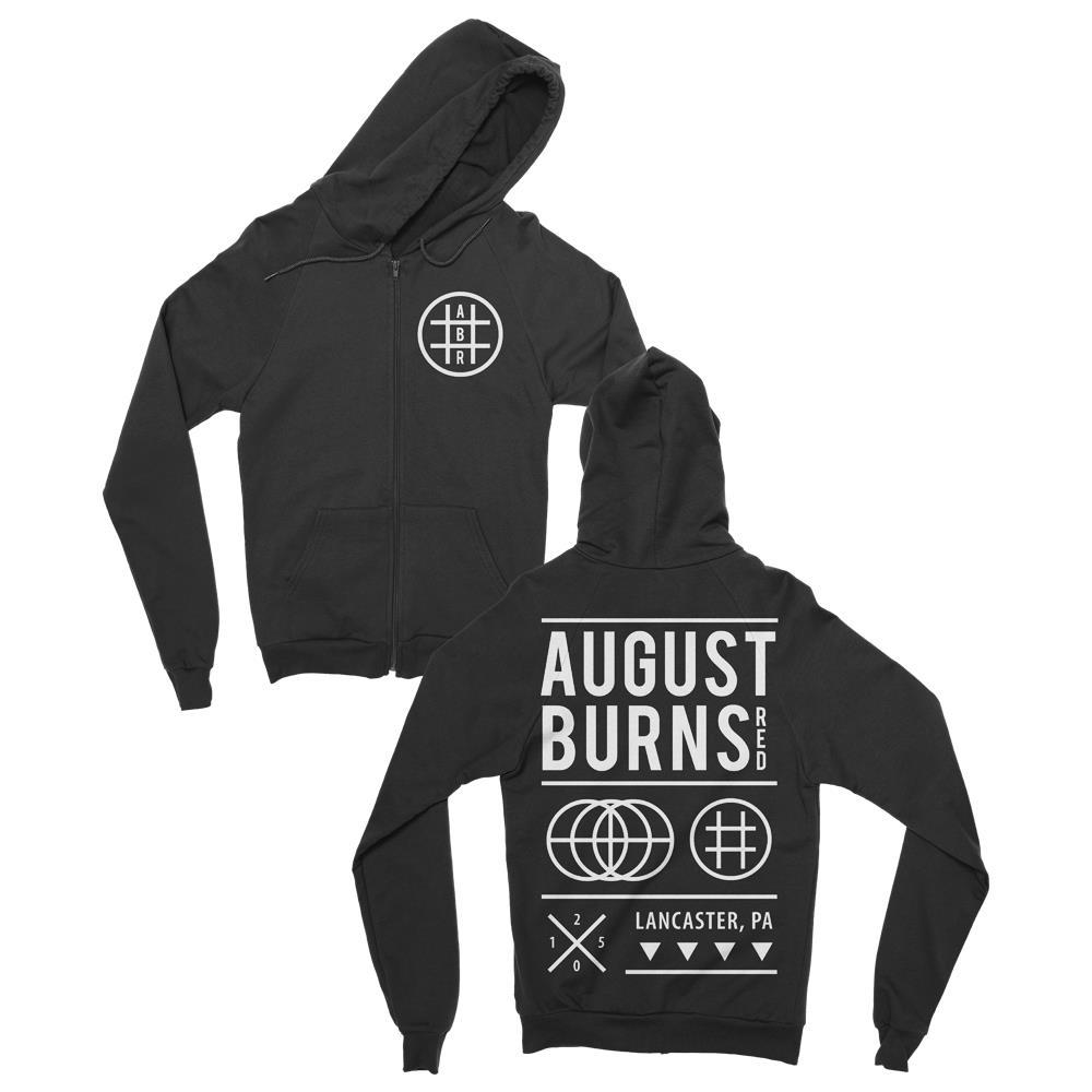 Shapes Black Zip-Up Sweatshirt