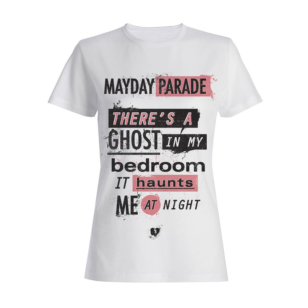 Ghosts Lyric White GIRLS Shirt