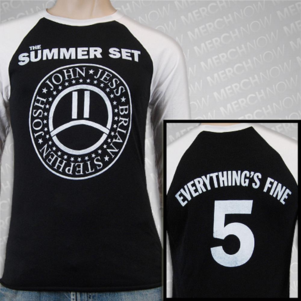 Everything's Fine 05 White/Black Baseball Tee