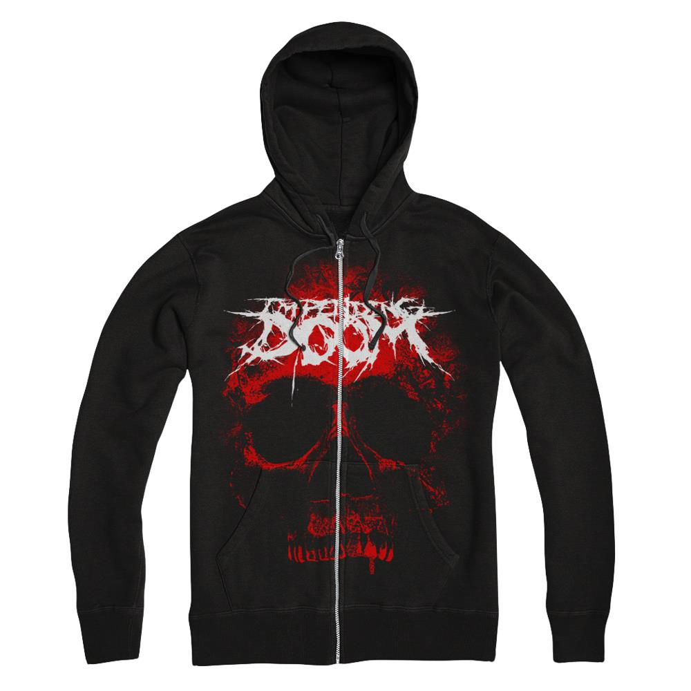 Impending Doom - Giant Red Skull Black