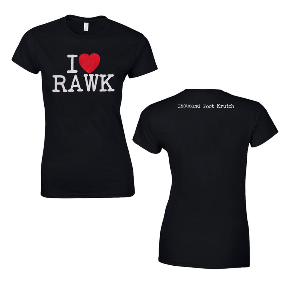 I Heart Rawk Black Girl's T-Shirt