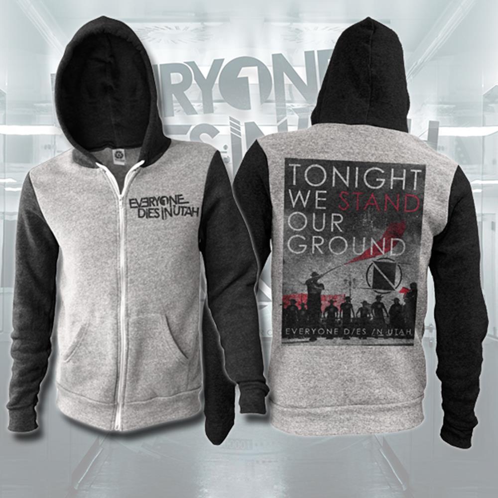 Tonight We Stand Black/Grey Zip-Up