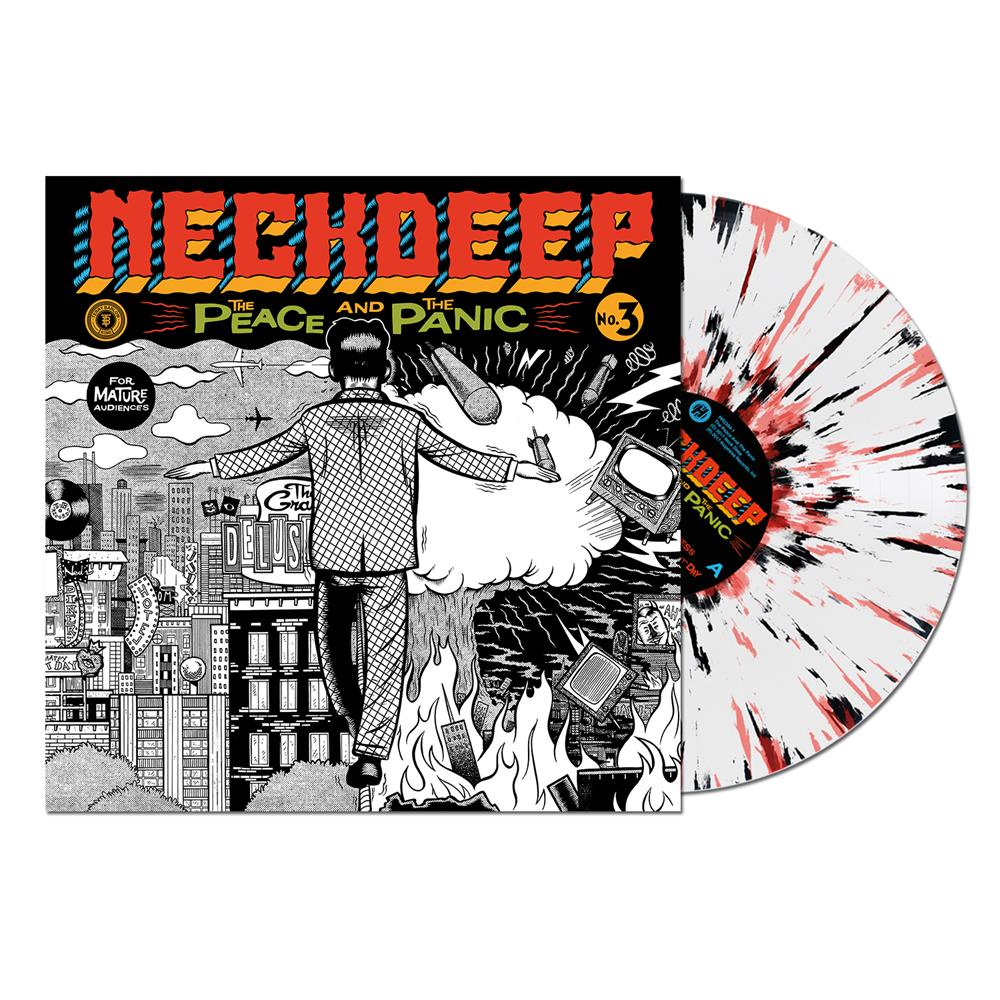 The Peace And The Panic White W Black And Red Splatter