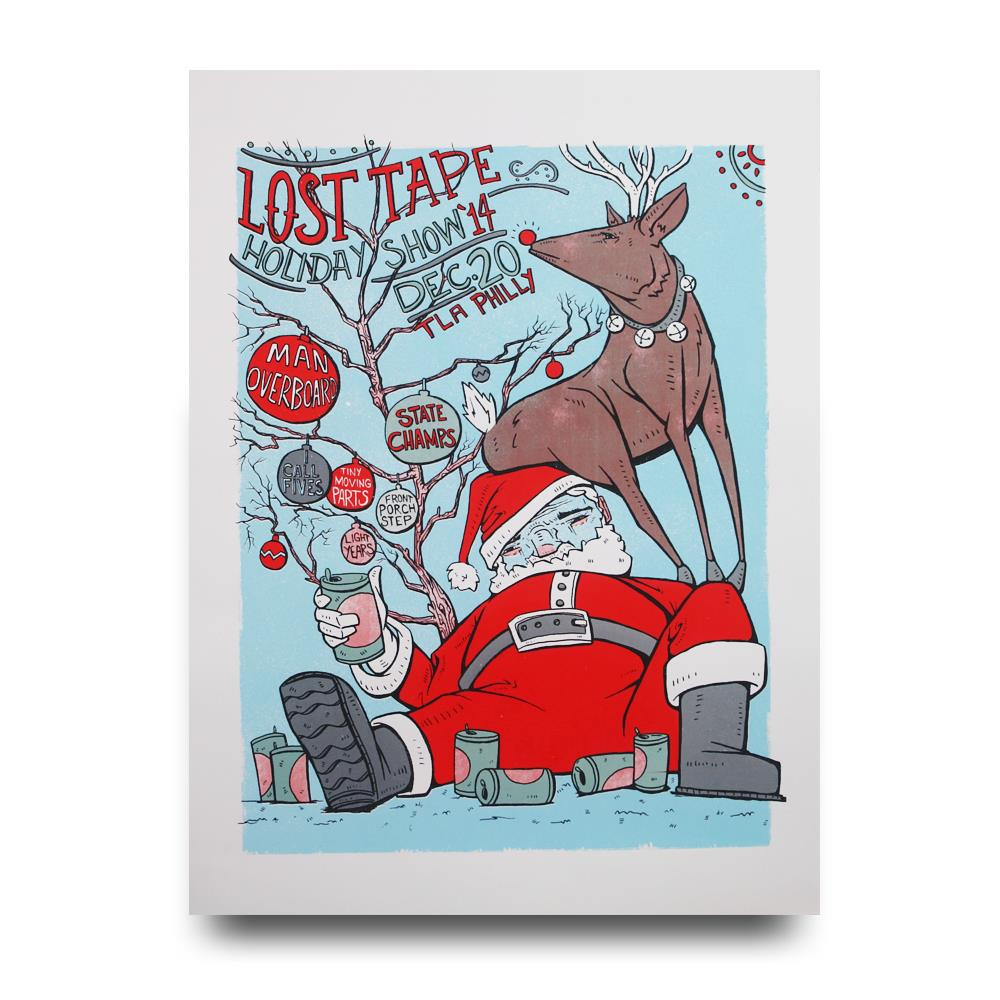 Lost Tape Collective 2014 Holiday Show  Screen Printed