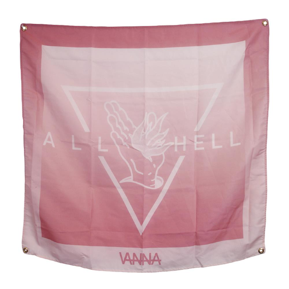 All Hell  40X40 Wall Flag