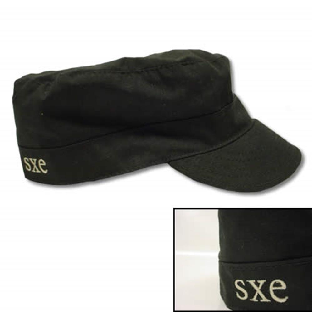 Embroidered 'SXE' Black    (7 1/4)