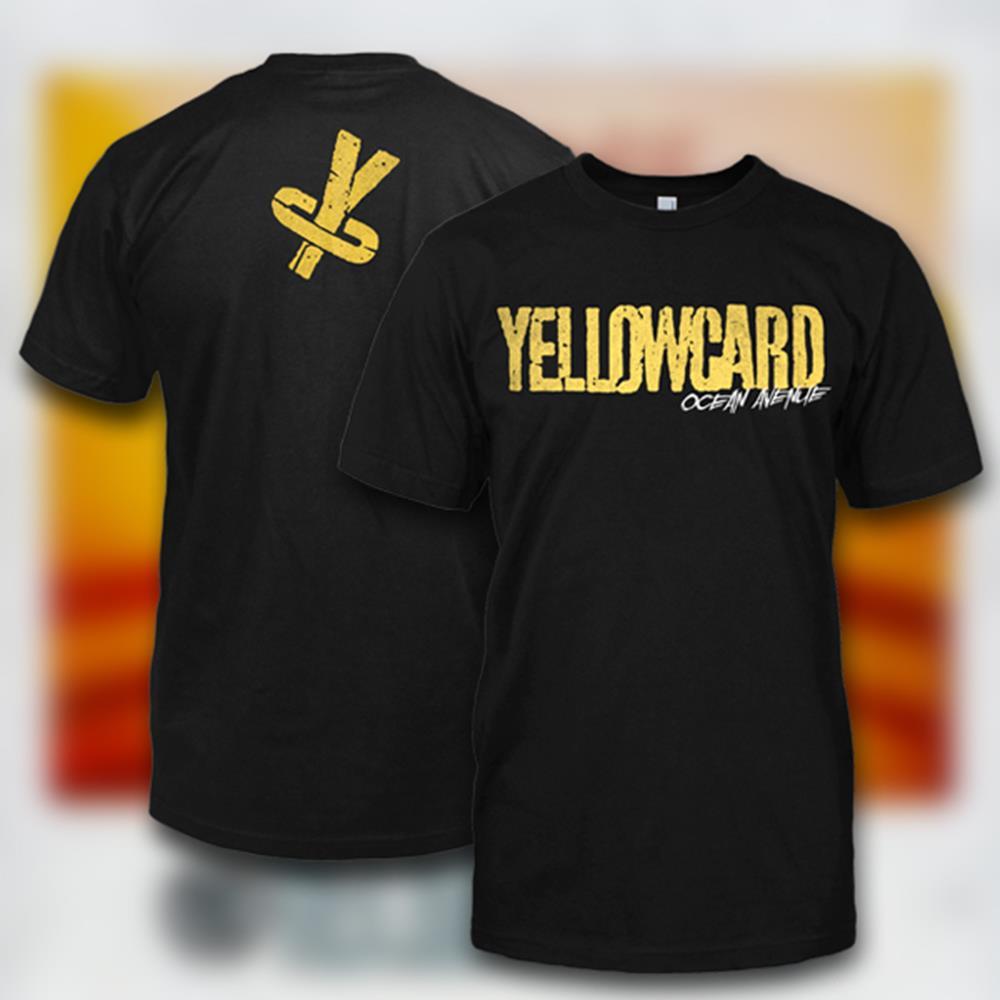 Yellowcard - Old School Black T-Shirt