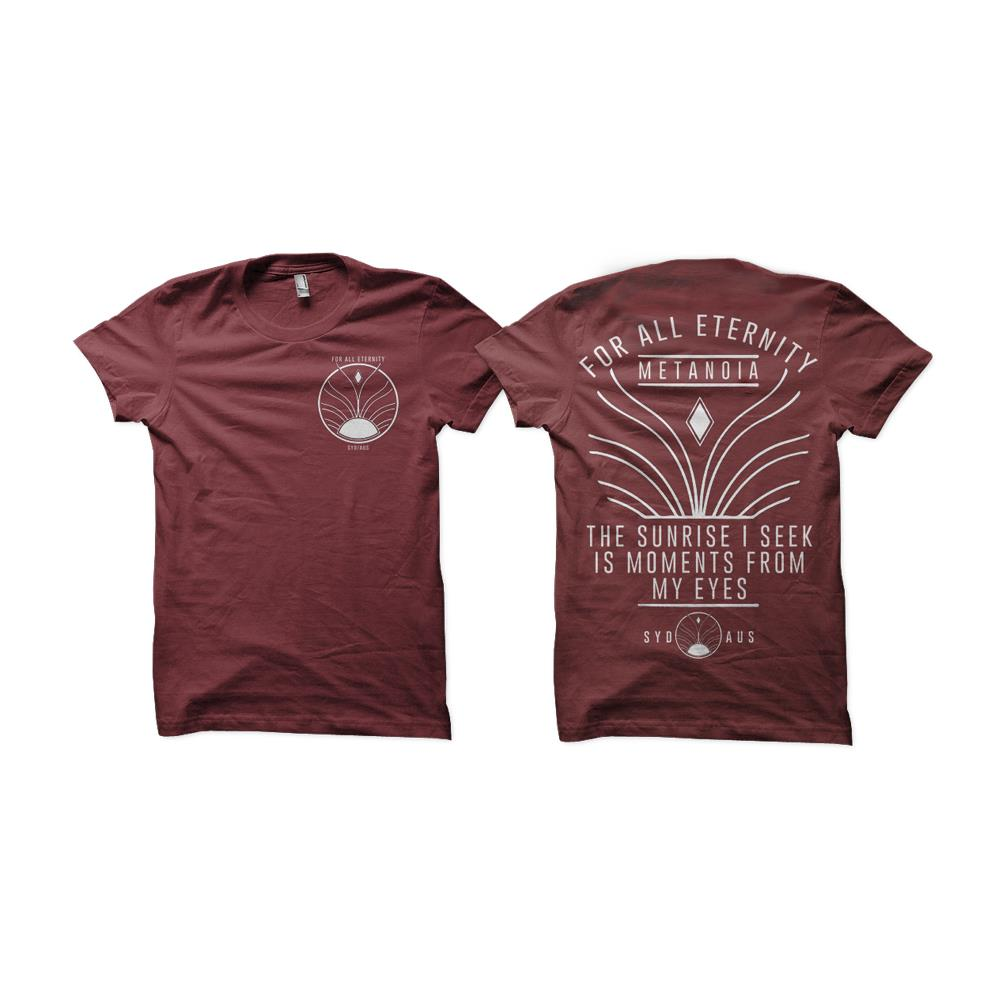 Sunrise Maroon T-Shirt