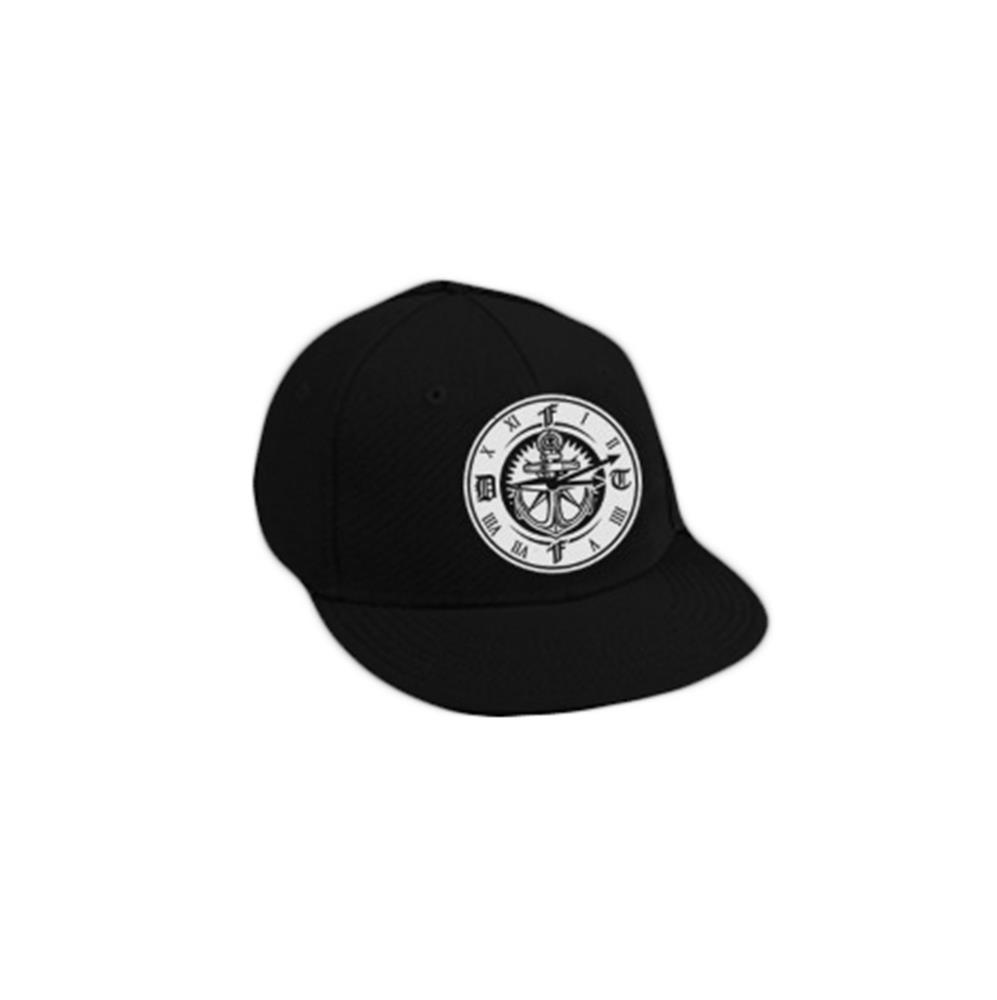 Compass Black Snapback Hat