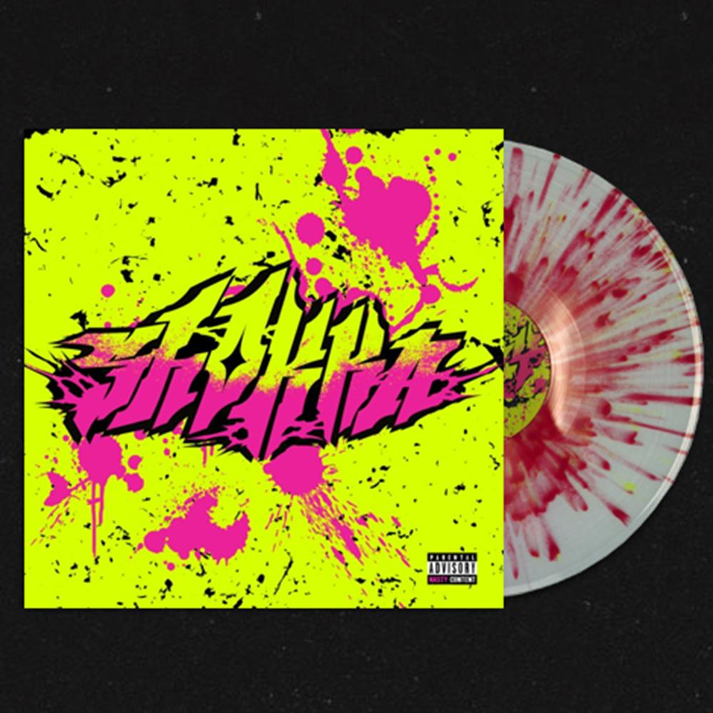 Shokka Clear w/Heavy Yellow & Hot Pink Splatter LP