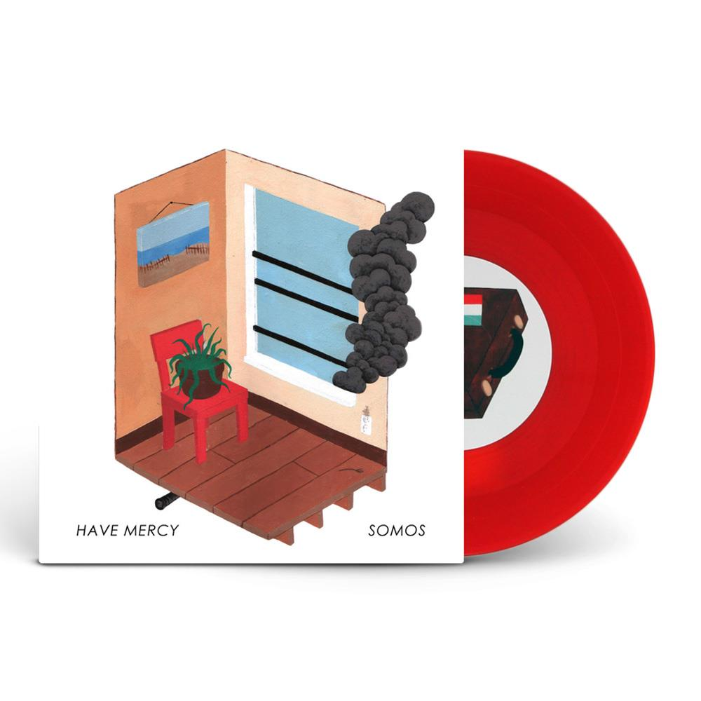Have Mercy/Somos Split Orange And Red Swirl 7