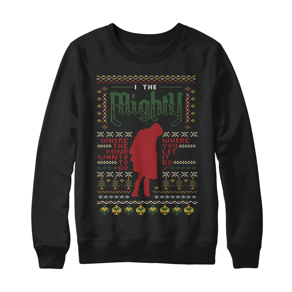 Holiday Sweater 2017 Black Red Crewneck