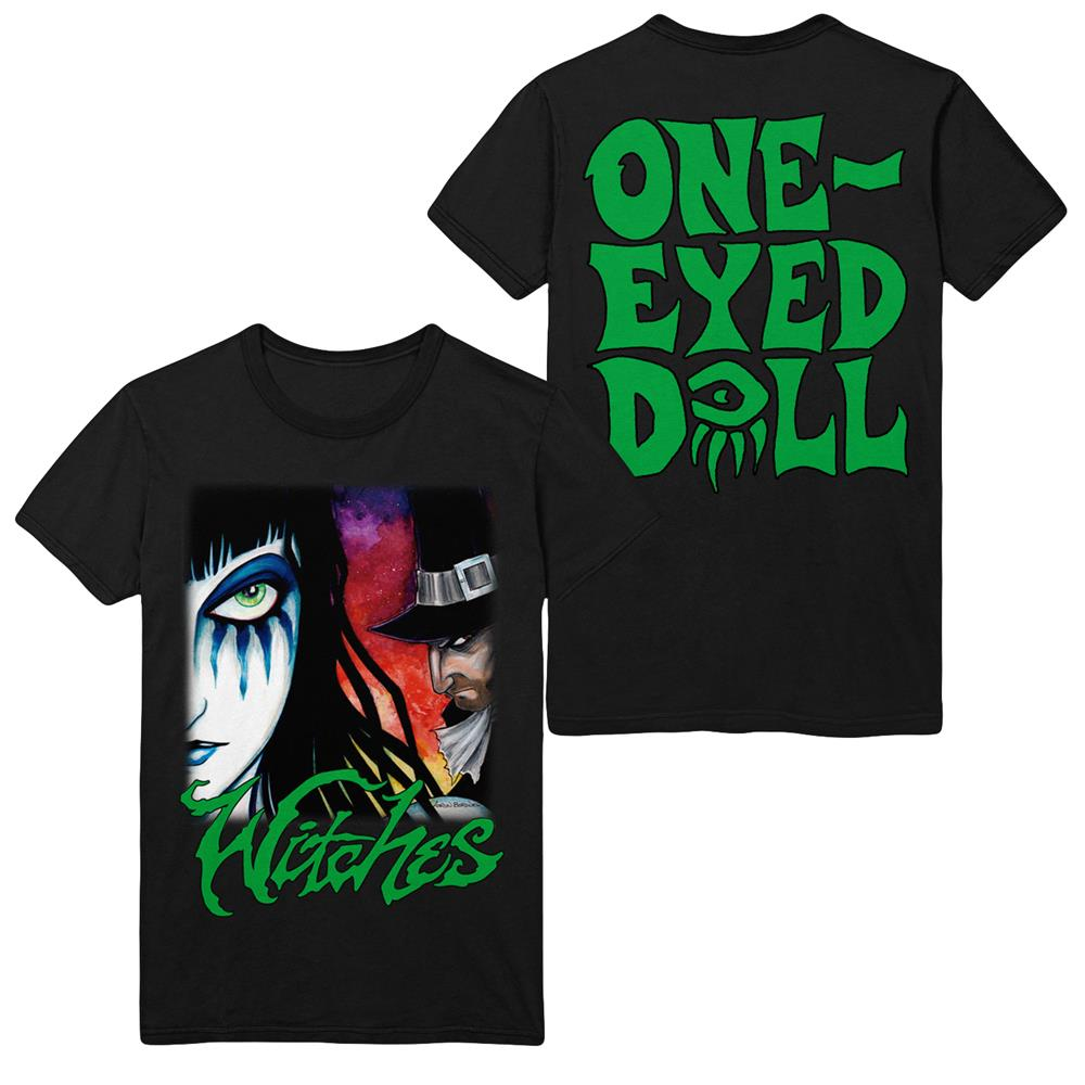 Witch Hunt (Face) Black T-Shirt