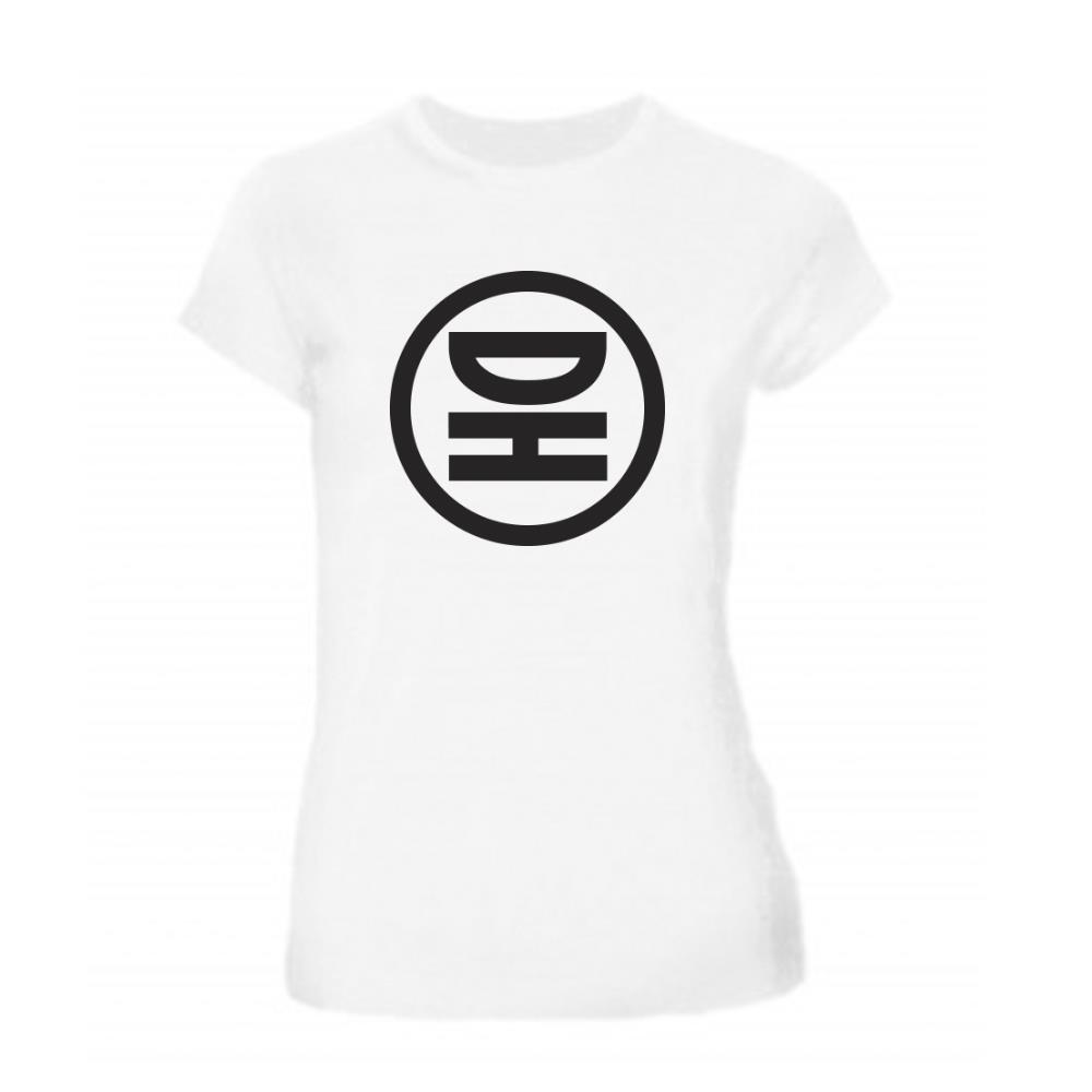 Circle Logo White Girl Shirt