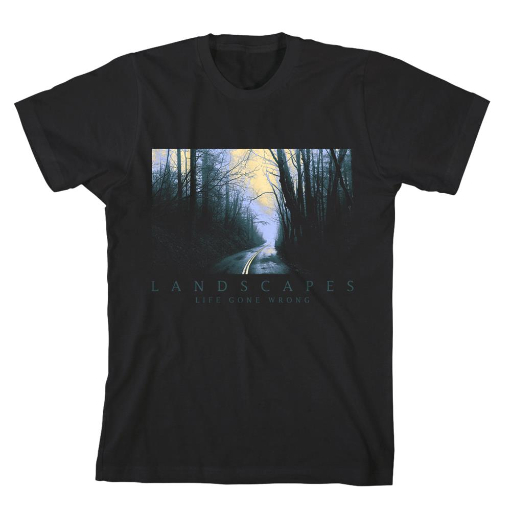 Lanscapes Road Black T-Shirt