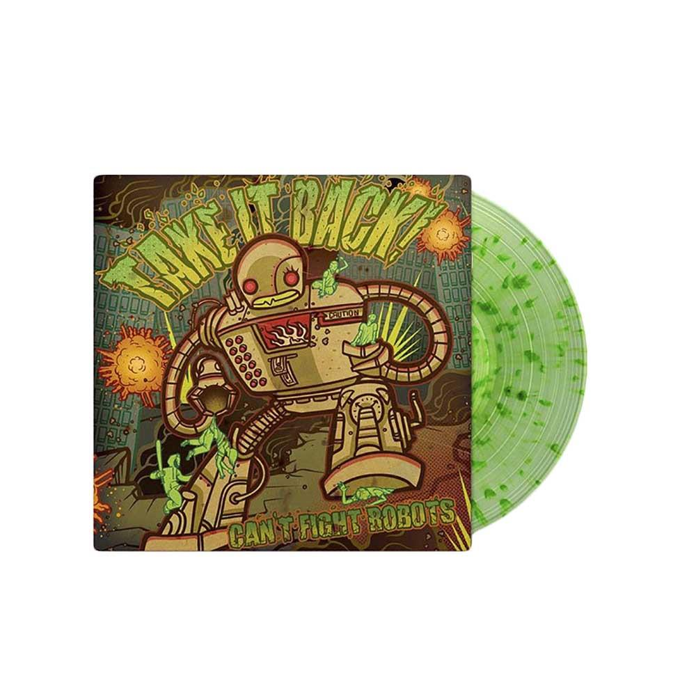Can't Fight Robots Clear w/ Radioactive Green Splatter LPsale