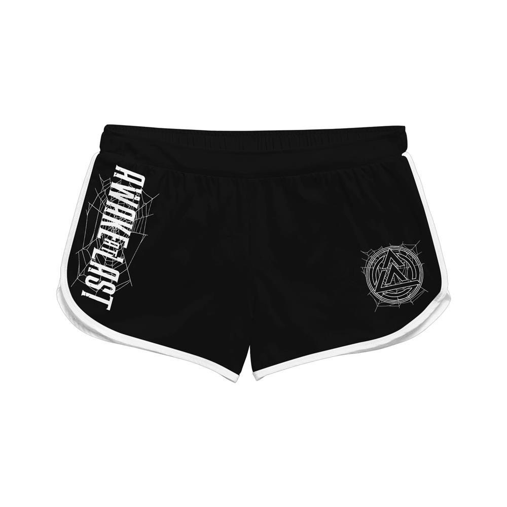 Spiderweb Black Track Shorts