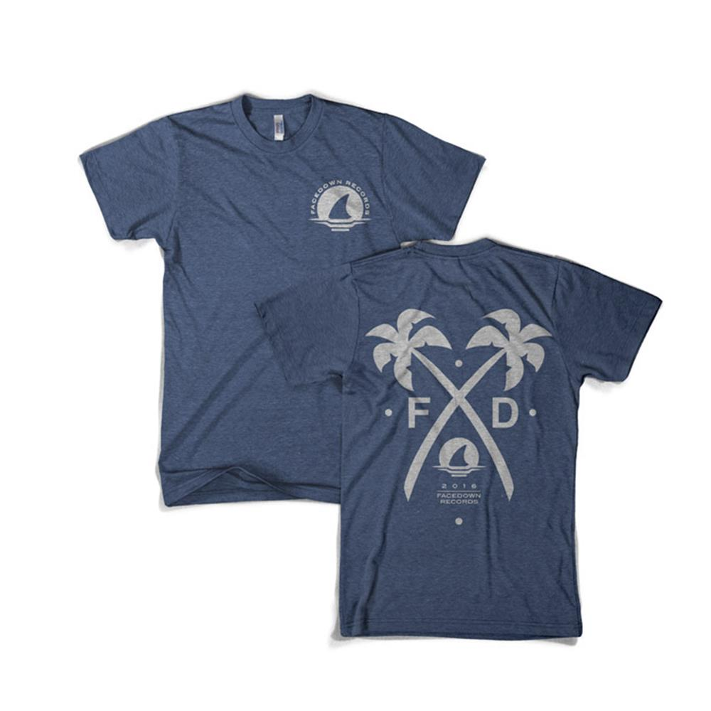 Crossed Palms Heather Navy                                                     Merch