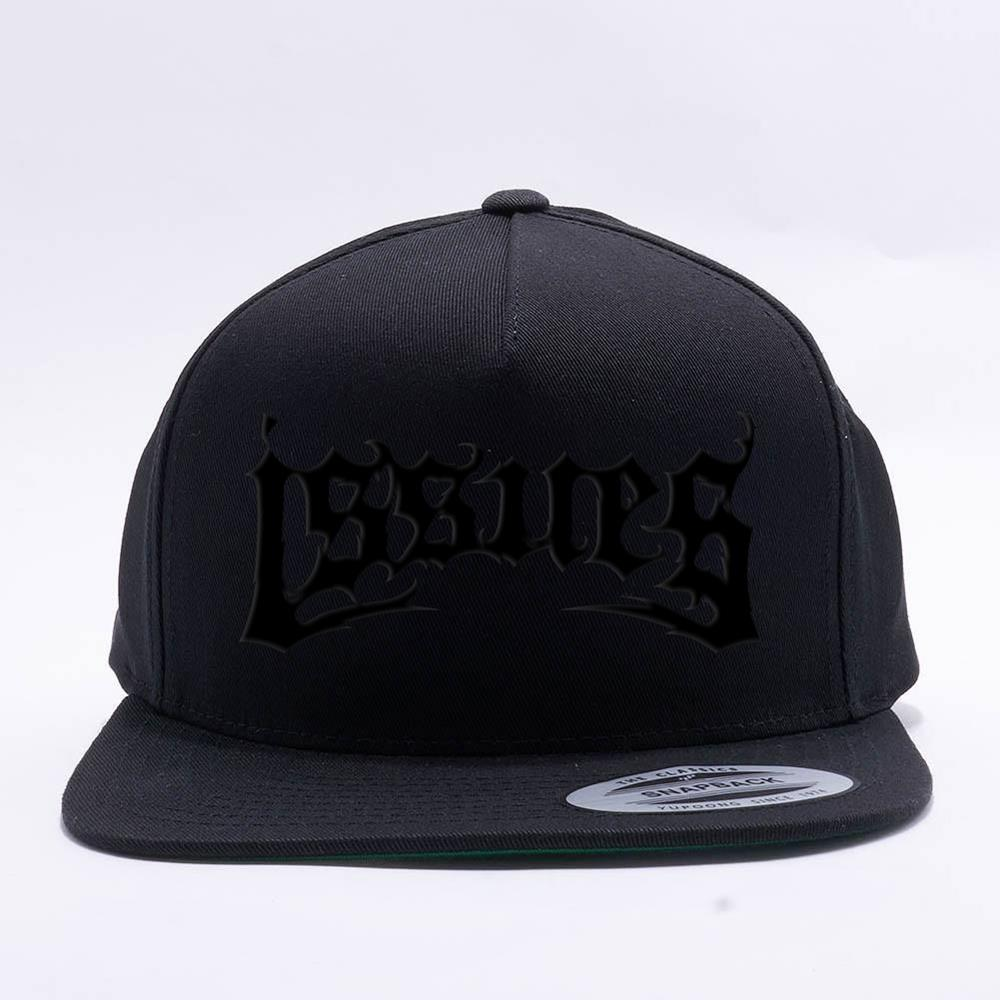 Death Metal Logo Black On Black Snapback Hat