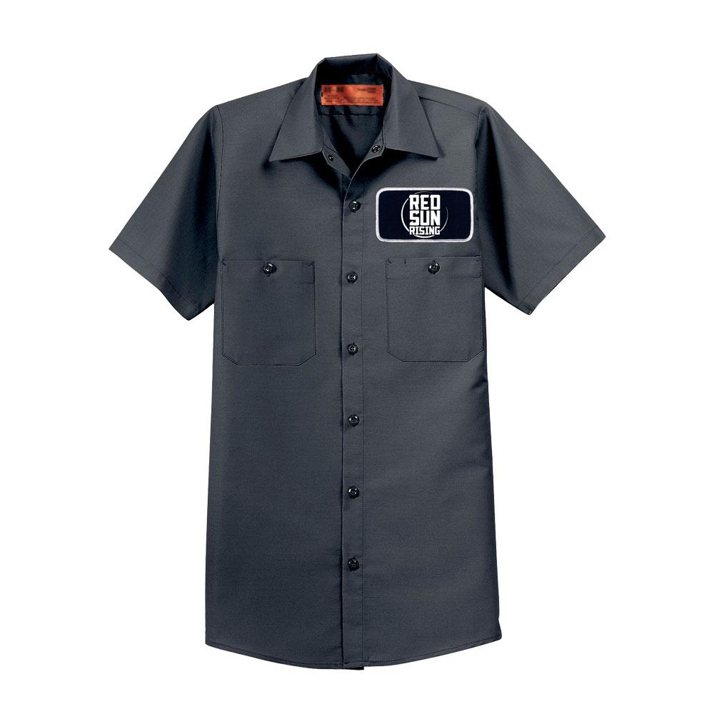 Patch Logo Charcoal Work Shirt