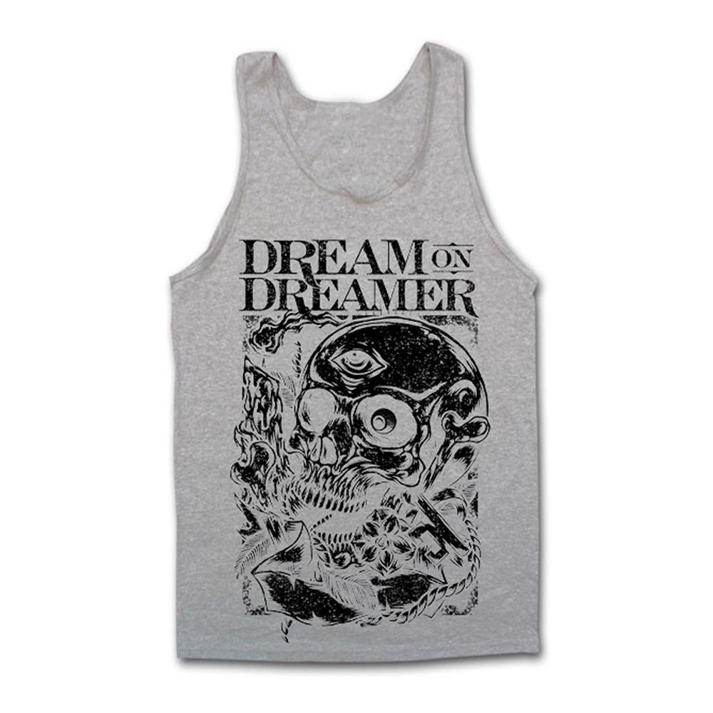 Skull Key Heather Grey Tank Top
