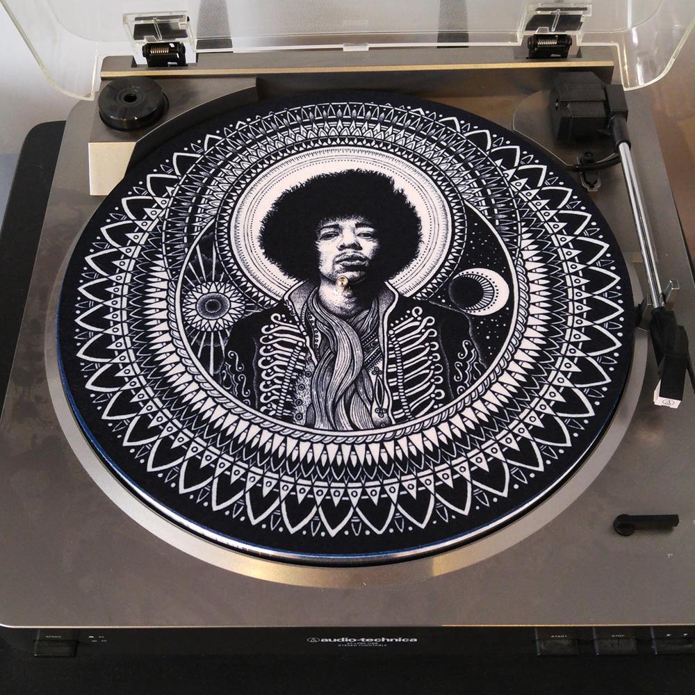 Dale Sarok's Jimi Hendrix Black Slip Mat