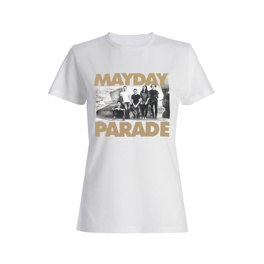 Black & White Photo White Girl's T-Shirt
