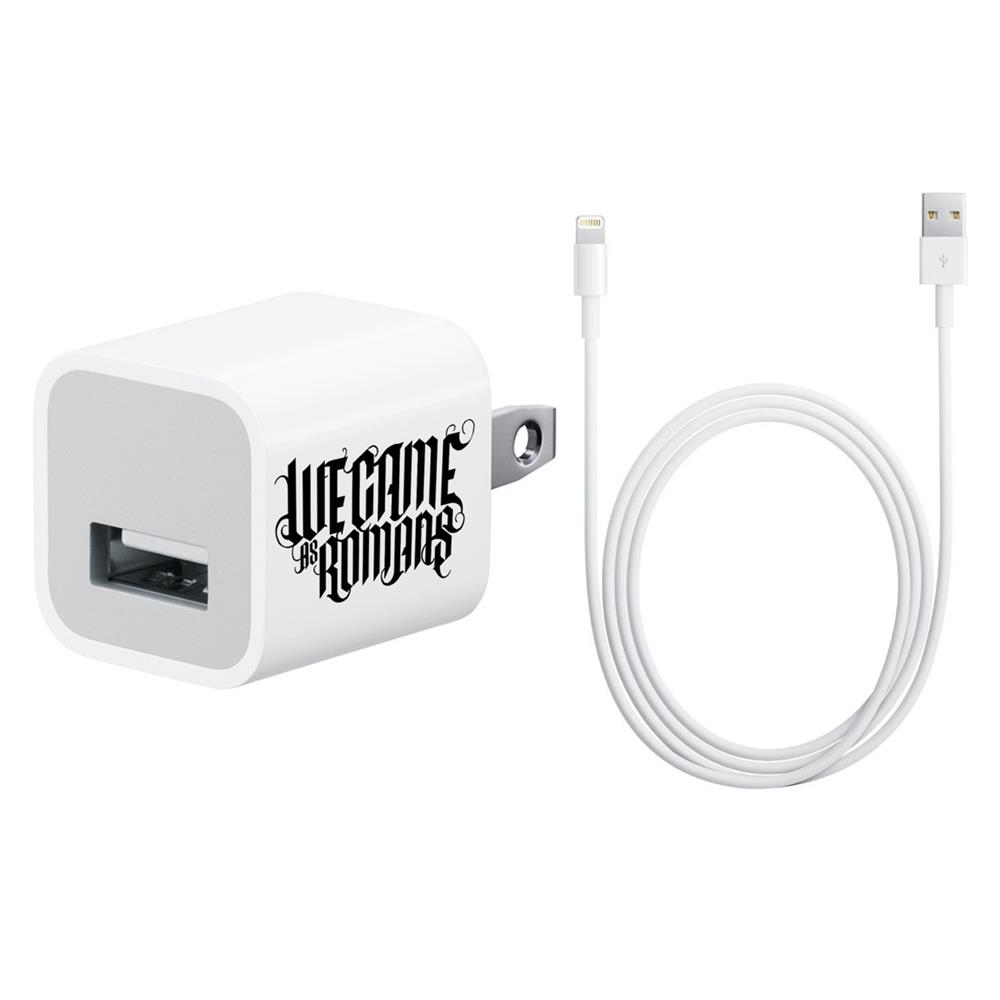 Logo Iphone White Charger W/ Lightning Plug