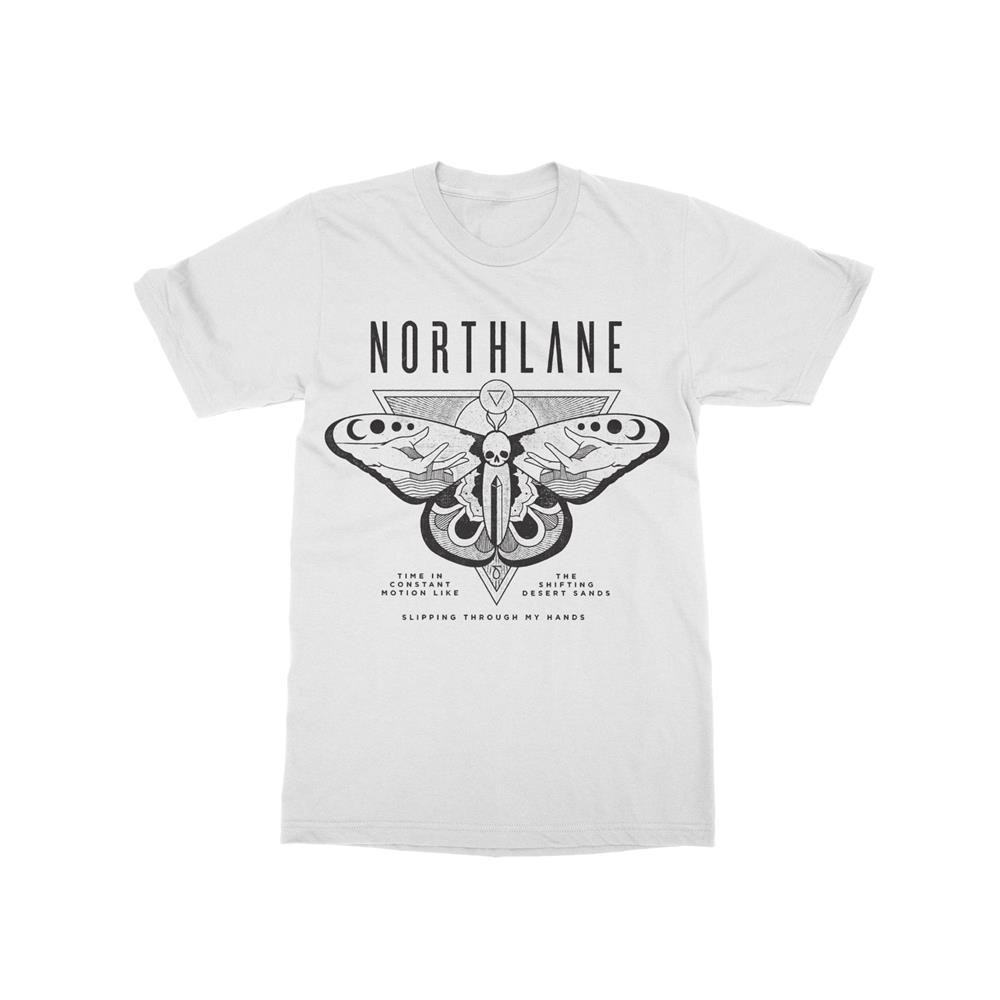 Obelisk Moth White T-Shirt