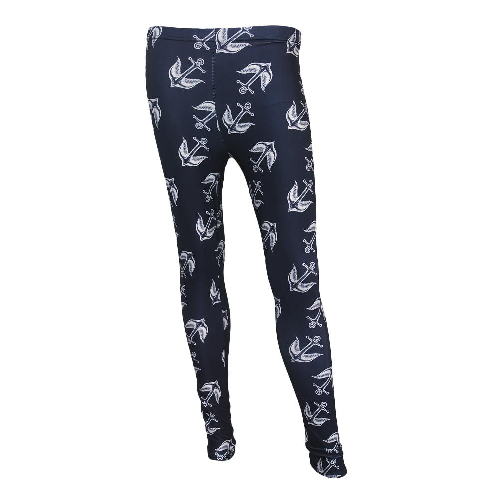 Anchor Bird Black Leggings