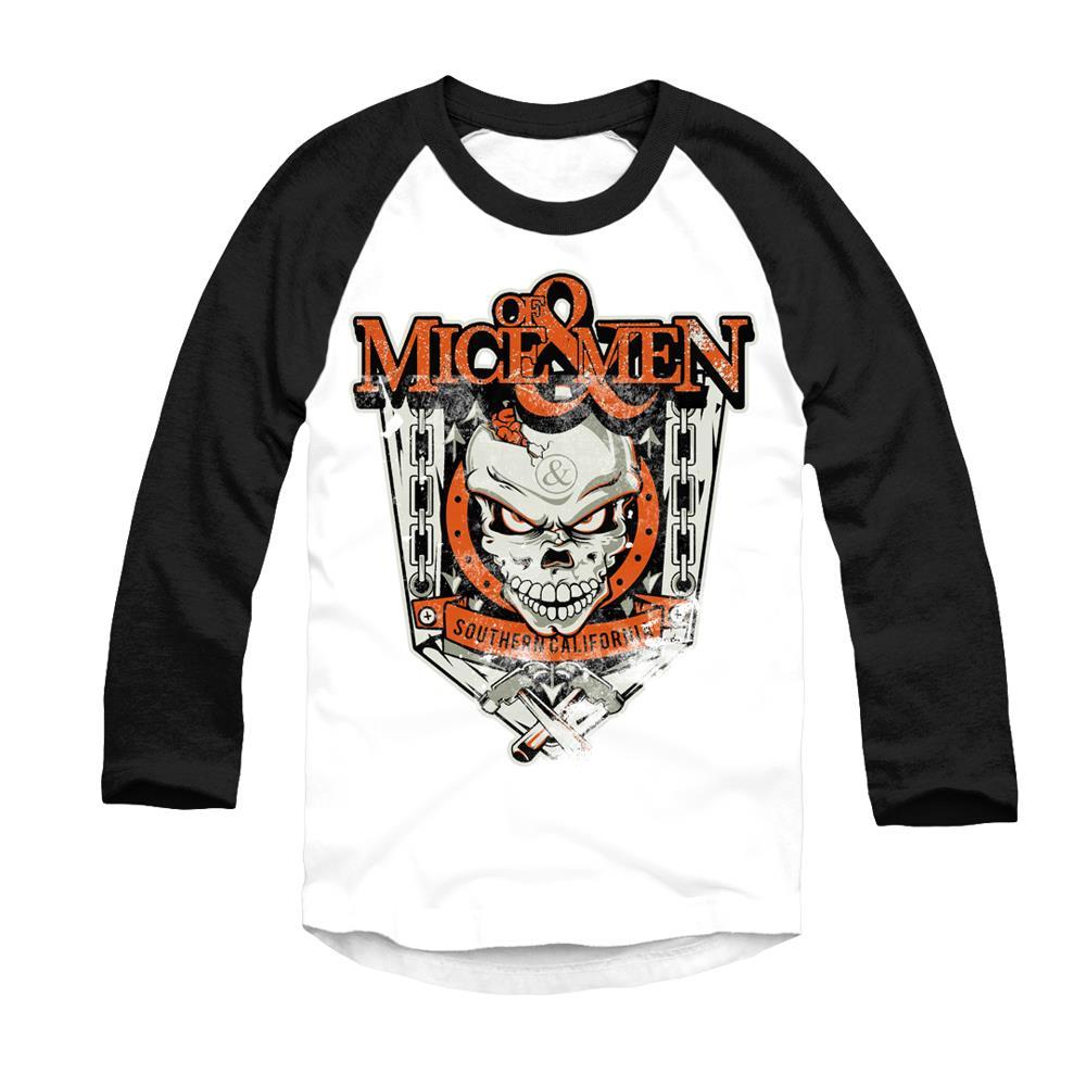 *Last One* Skull Crest Black/White Baseball Shirt