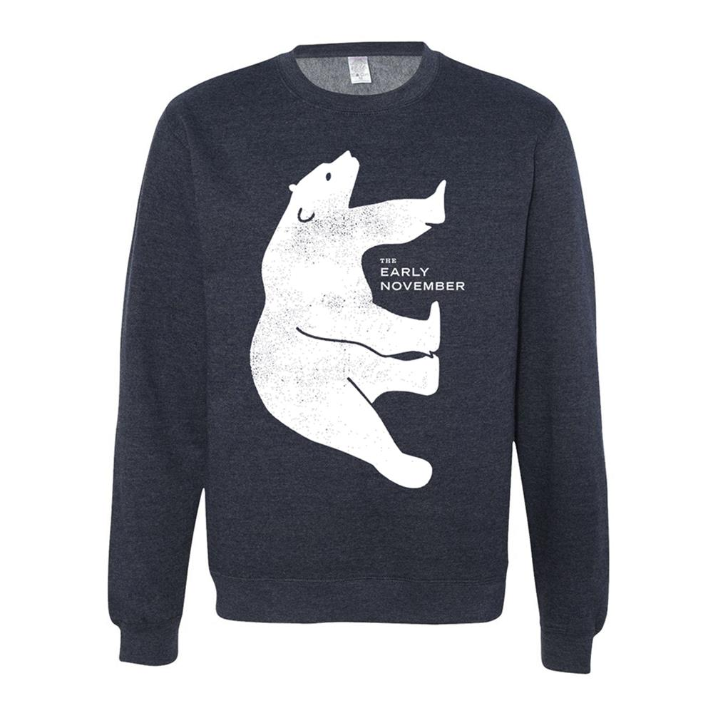 Bear Heather Navy Crewneck