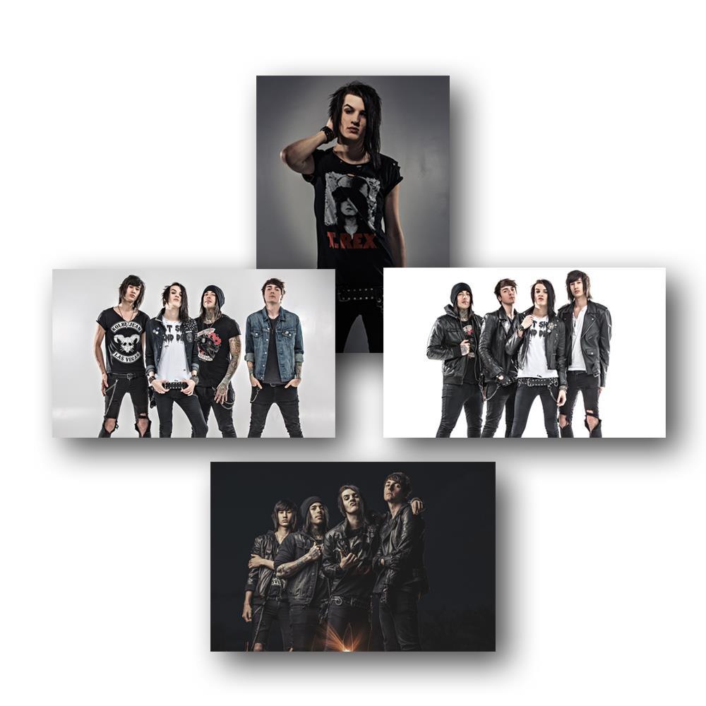 Born To Burn 11X17 Poster Set (Set Of 4)