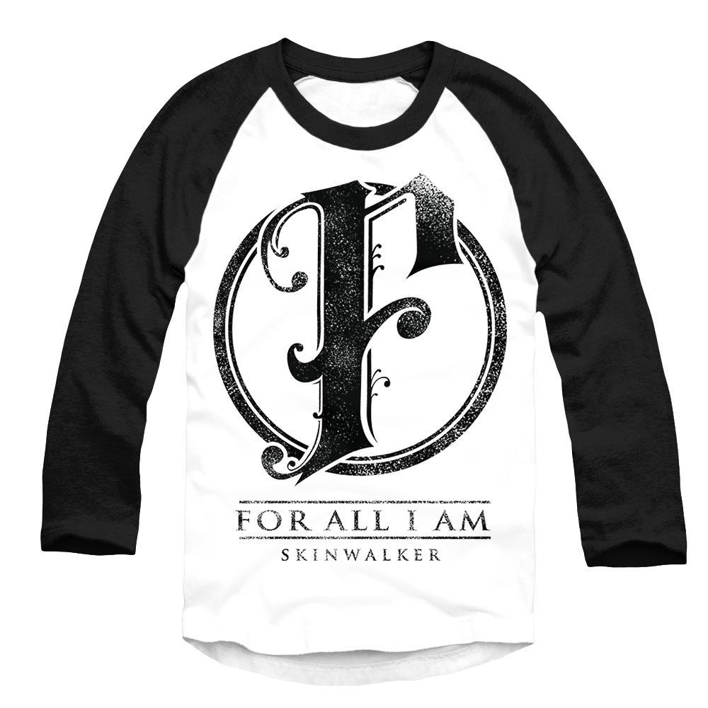 F Logo Black/White Baseball Shirt