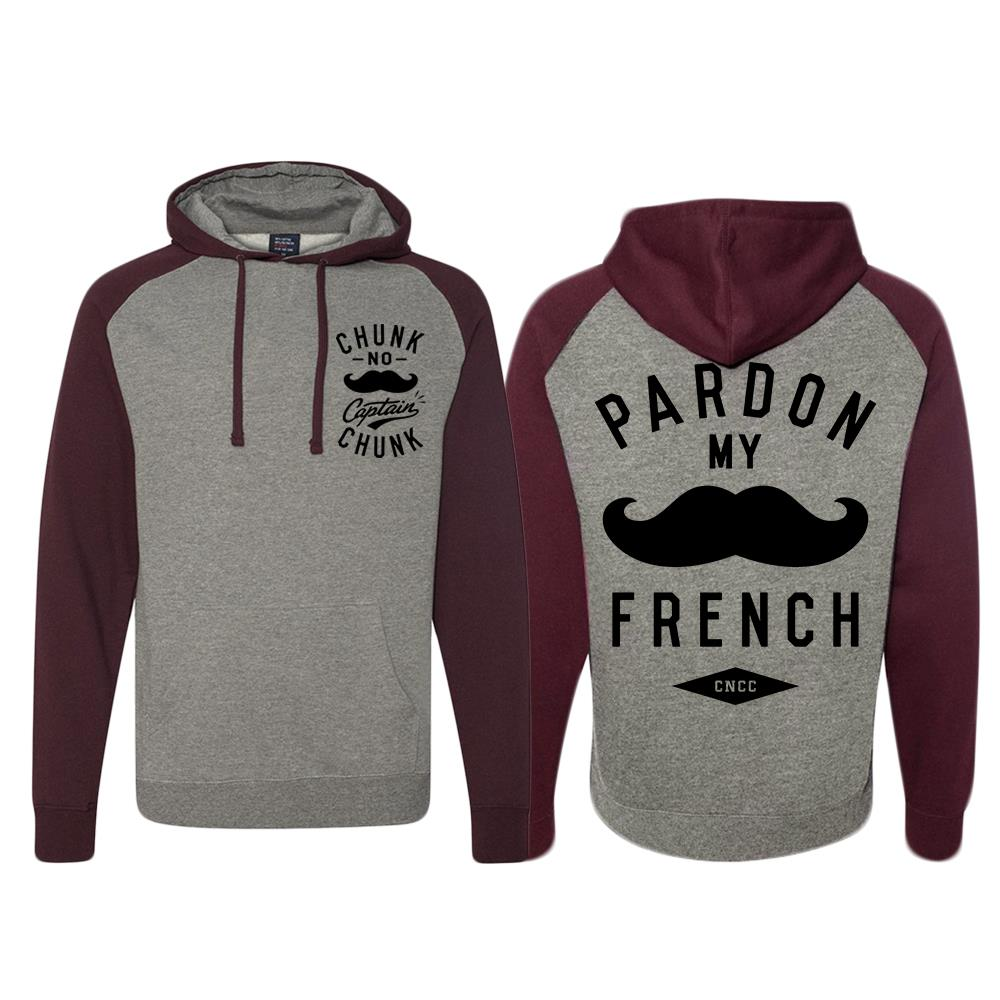 Mustache Heather / Burgundy