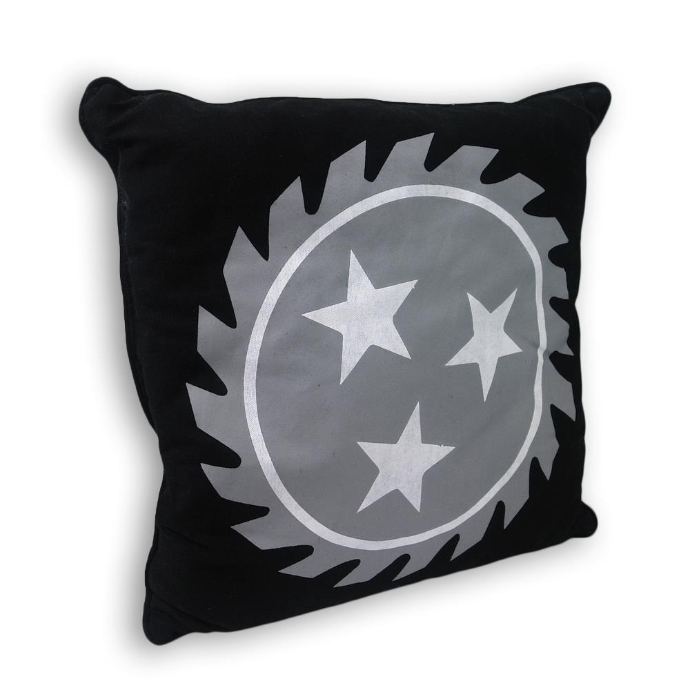 Sawblade Black Throw Pillow