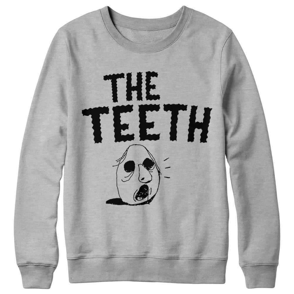 The Teeth Head Grey Crewneck