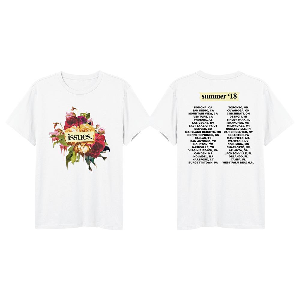 Flowers Warped Tour 2018 White