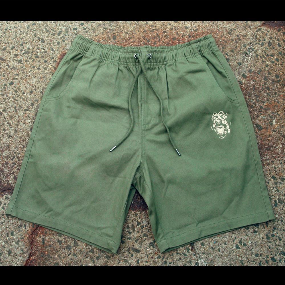 Feral Army Green Shorts